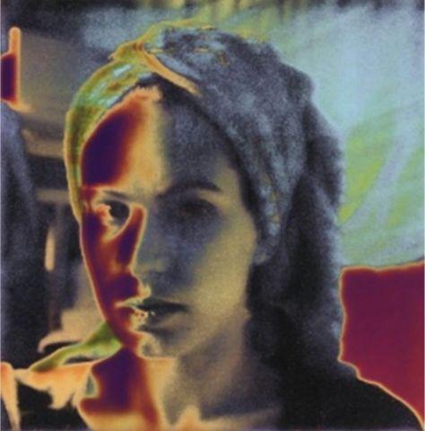 Susanne Pareike - Portrait mit Turban - Digitale Malerei