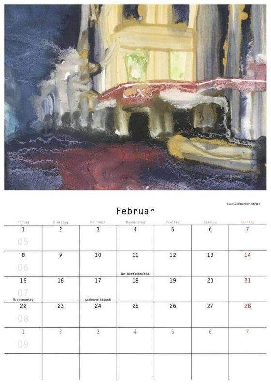 Renate Geiter - Kalender 2021 Sülz-Klettenberg - Malerei