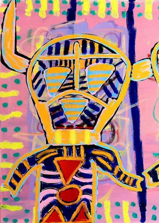 Kaweh Agah - Rebellen II - Malerei