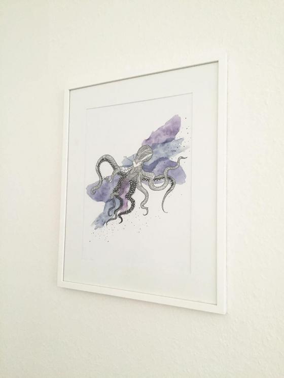 Anika Merten - Sonstiges- Krake (limitierter Print)