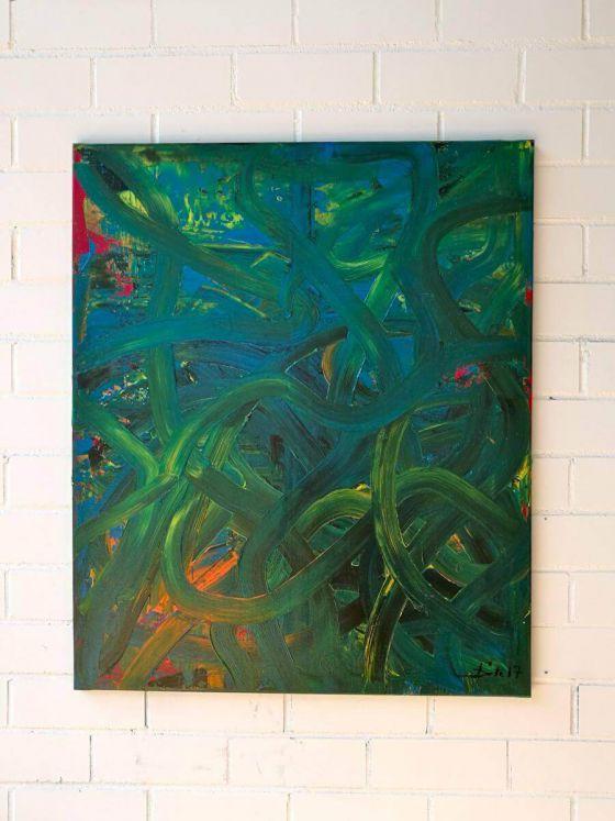 <em>kunstwerk/artwork bearbeiten</em>: Action with green 18.03.2020 - 13:48