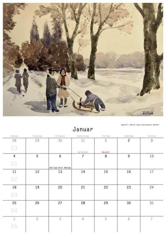 Renate Geiter - Zollstock-Kalender 2021 - Malerei