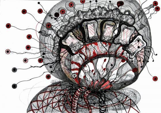 Letitia Gaba - Graphik- Ohne Titel