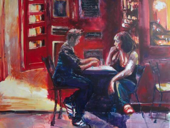 Katja Kempe - Malerei- Serie Paris 1
