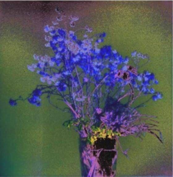 Susanne Pareike - Blau und Spuren von Gelb - Digitale Malerei