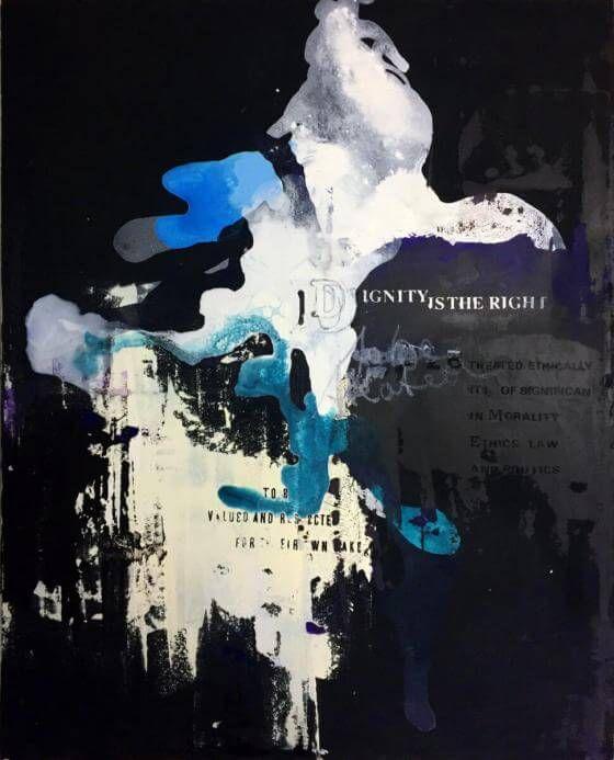 <em>kunstwerk/artwork bearbeiten</em>: »DIGNITY (IS THE RIGHT)« (Leinwand) 11.05.2020 - 12:45