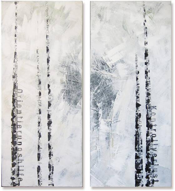 Michaele Helker - Collagen, Malerei- driftWOOD_134_135