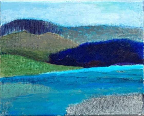Ursula Krenzler - seaside III - Malerei