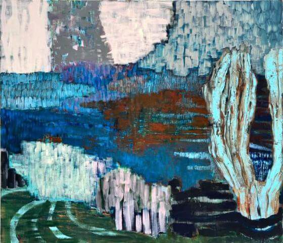 Ursula Krenzler - Japanischer Garten II - Malerei