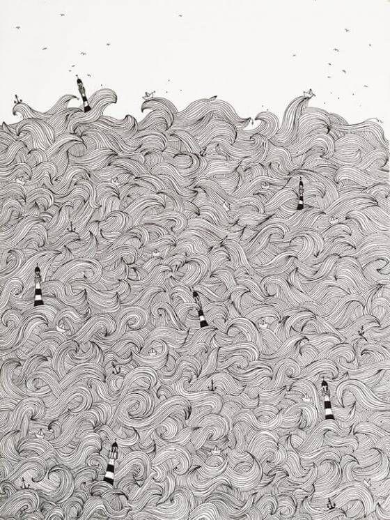 Anika Merten - Illustration, Zeichnungen- Meer
