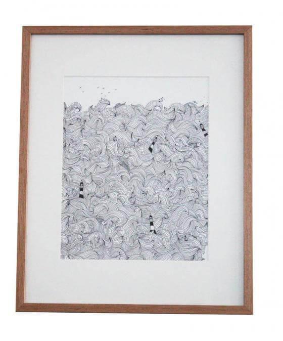 Anika Merten - Illustration, Zeichnungen- Meer II