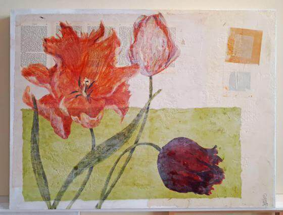 <em>kunstwerk/artwork bearbeiten</em>: Papageientulpen II 06.06.2020 - 10:15