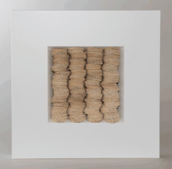 Ursula Traschütz - Objekte, Papierarbeiten- Scheibchenweise 1